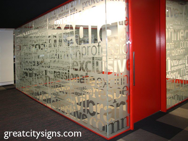 Window Frosting And Window Graphics In Sydney